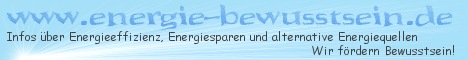 energie-bewusstsein.de - Infos über Energiesparen, Energieeffizienz und alternat